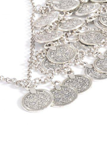 Online Alloy Engraved Coins Geometric Body Chain - SILVER  Mobile