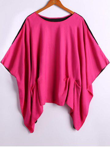 Outfits Double-Wear Asymmetrical Loose-Fitting Blouse