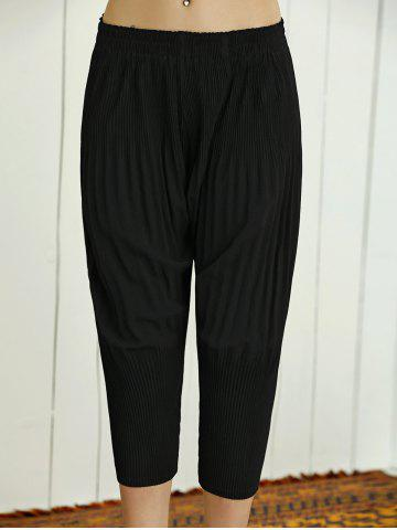 Fancy High Waist Stretchy Pleated Slimming Pants