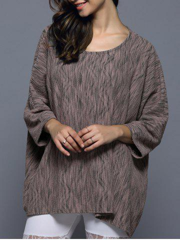 Unique Batwing Sleeve Textured Loose-Fitting Knitwear