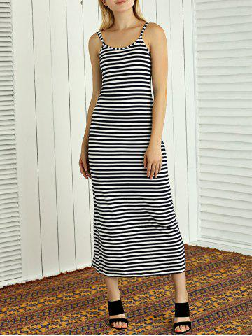 New Striped High Slit Maxi Dress
