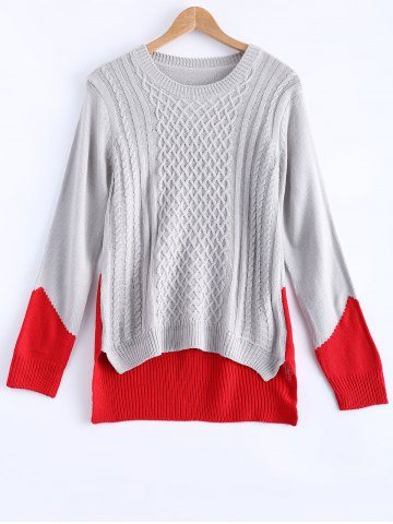Shops Long Sleeve Asymmetric Pullover Sweater