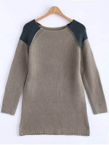 Outfit Raglan Sleeve Tunic Knit Sweater