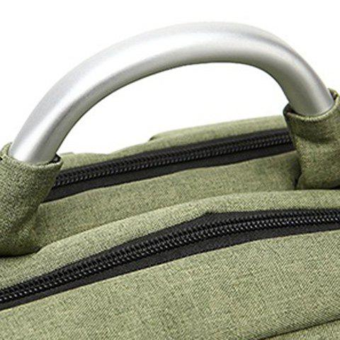 Fancy Stitching Nylon Laptop Backpack - ARMY GREEN  Mobile