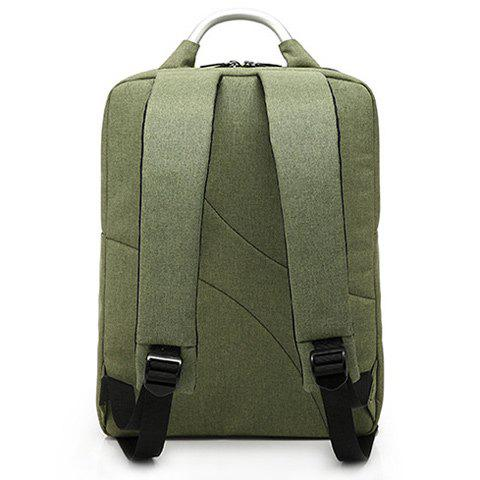 Cheap Stitching Nylon Laptop Backpack - ARMY GREEN  Mobile