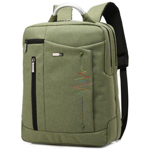 Hot Stitching Nylon Laptop Backpack - ARMY GREEN  Mobile