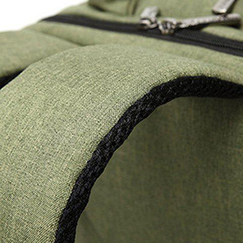 Trendy Stitching Nylon Laptop Backpack - ARMY GREEN  Mobile