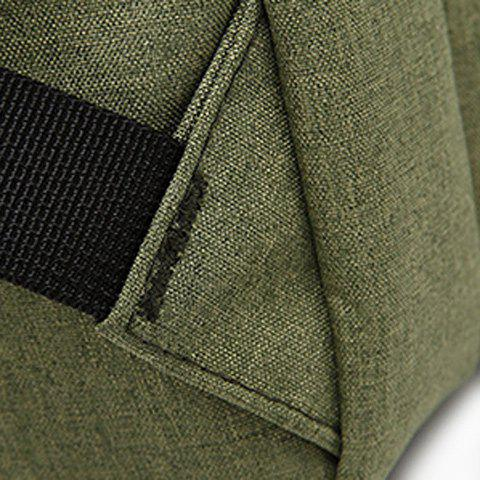 Shop Stitching Nylon Laptop Backpack - ARMY GREEN  Mobile