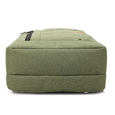 Affordable Stitching Nylon Laptop Backpack - ARMY GREEN  Mobile