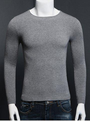 Unique Plus Size Round Neck Long Sleeve Knitted Sweater