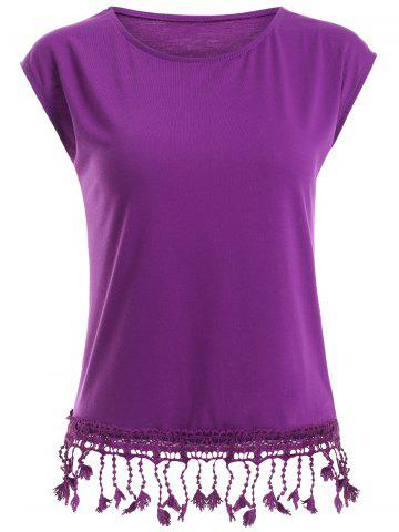 Chic Fitted Tassels T-Shirt