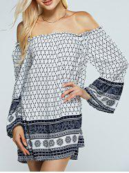 Strapless Print Casual Off The Shoulder Dress