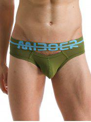 U Convex Pouch creux Out Design Briefs Band - Vert Foncu00e9