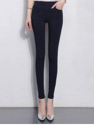 Pockets Design Skinny Pants -
