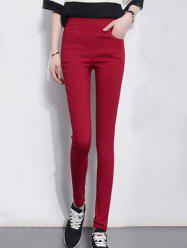 Pocket Design Skinny Cigarette Pants