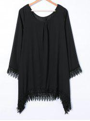 Asymmetrical Loose Embroidery Dress -