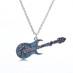 Rhinestone Guitar Sweater Chain - ICE BLUE