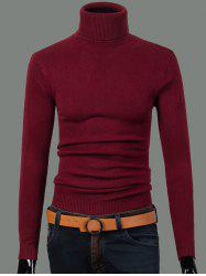 Turtleneck à manches longues Ribbed Sweater -