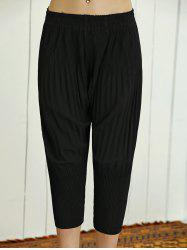 High Waist Stretchy Pleated Slimming Pants -