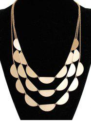 Layered Semicircle Sweater Chain - GOLDEN