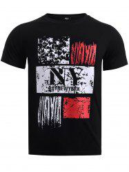 BoyNewYork Spray Paint Print Round Neck T-Shirt