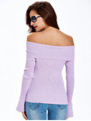 Bell Sleeve Ribbed Knitwear -
