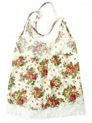 Chinese Style Floral Print Backless Tank Top -