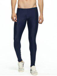 Paneled Skinny Elastic Waist Gym Pants