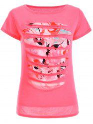 Sequins Ripped T-Shirt -