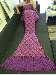 High Quality Fish Scale Knitting Tassel Sofa Blanket