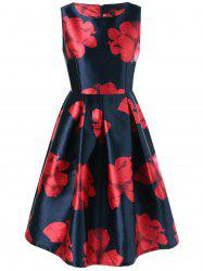 Floral Fit and Flare Vintage Dress