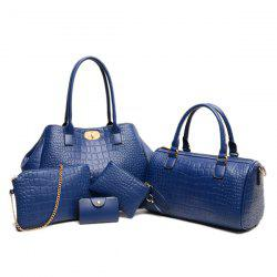 Vintage Tote Handbag 5Pc Set -