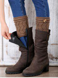 Casual Button Letter W Shape Knitted Boot Cuffs -