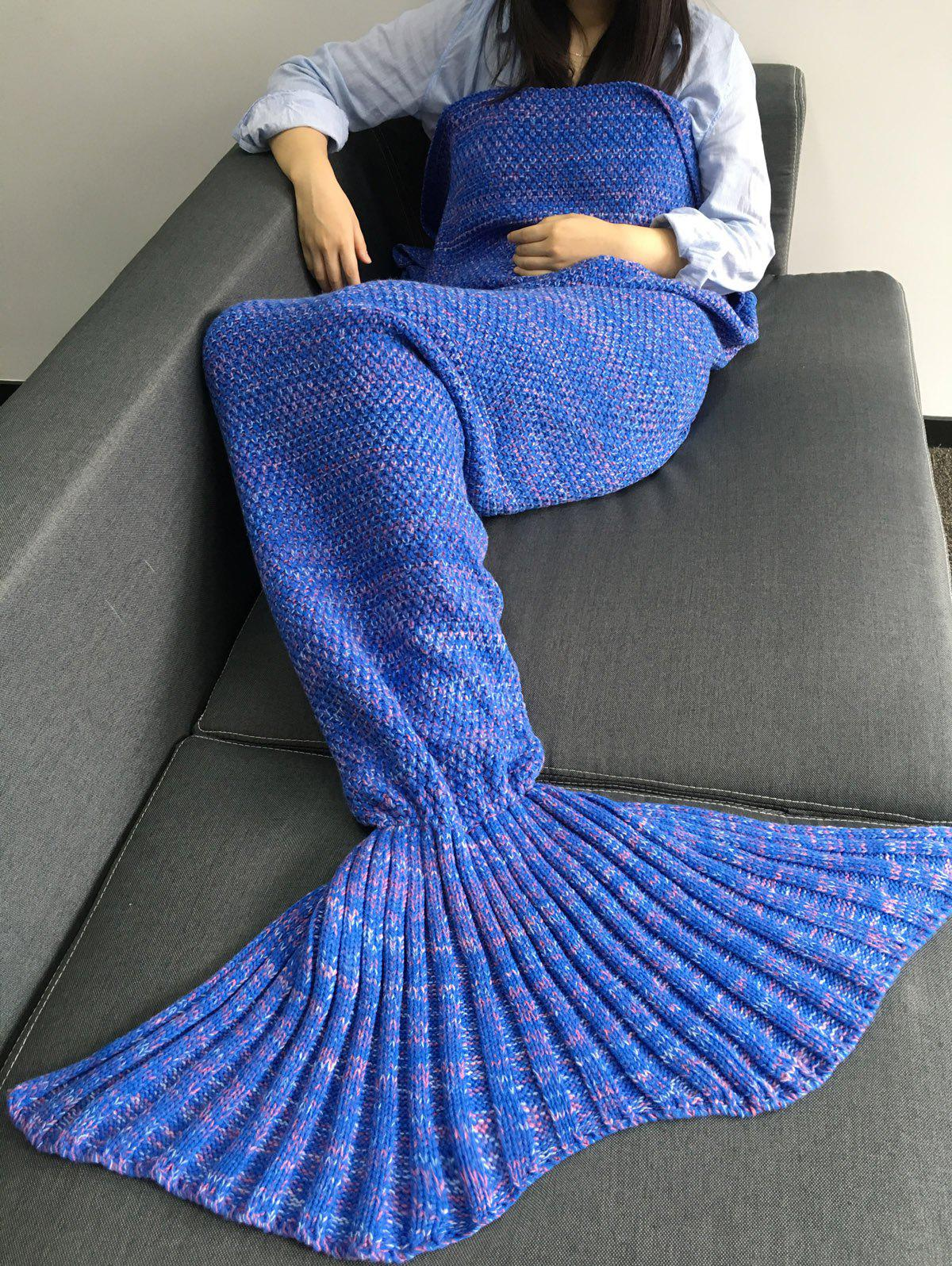 Latest Super Soft Sleeping Bags Yarn Knitted Mermaid Tail Blanket