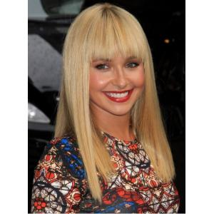 Bright-Coloured Long Full Bang Straight Synthetic Wig
