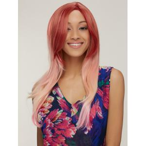 Colored Long Side Parting Natural Straight Synthetic Wig