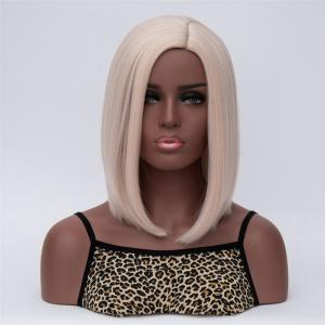 Medium Side Parting Natural Straight Synthetic Wig