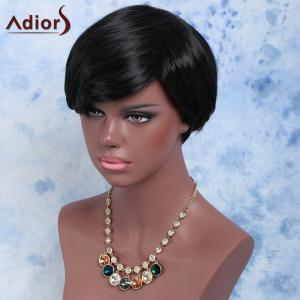 Short Shaggy Full Bang Straight Synthetic Wig