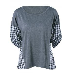 Plaid Pattern Spliced Blouse