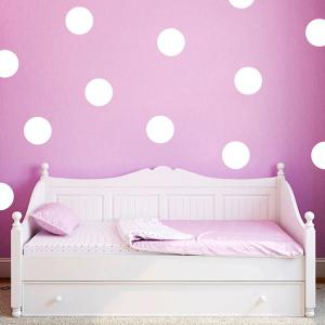 10CM Width Polka Dot Design Art Bedroom Vinyl Wall Sticker