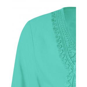 Lace Patchwork Peasant Top -