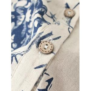 Pocket Floral Print Buttoned Shirt -