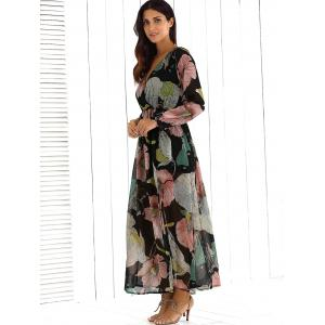 Surplice Casual Going Out Floral Maxi Beach Dress - FLORAL XL