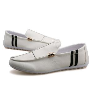 PU cuir Slip-On Stitching Mocassins -
