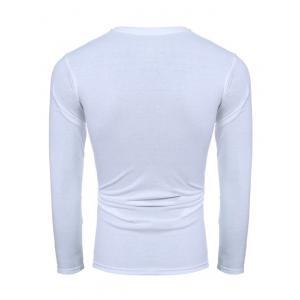 3D Ink Painting Print Round Neck Long Sleeve T-Shirt -