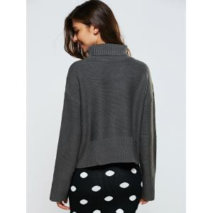 Turtle Neck Ribbed Loose-Fitting Sweater -