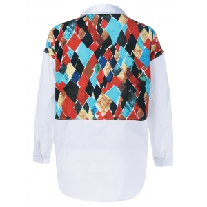 Back Geometrical Print Shirt -