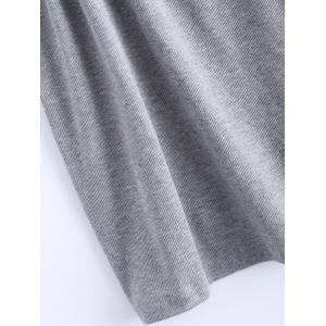 Open Back Stretchy Ribbed Tank Top - GRAY 5XL