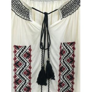 Ethnic Style Embroidery Blouse -