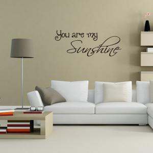 You Are My Sunshine Proverb Home Decoration Wall Sticker - BLACK